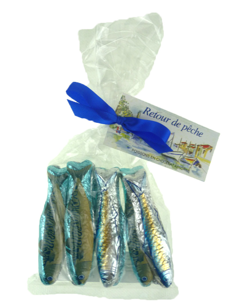 Poissons en chocolat assortis